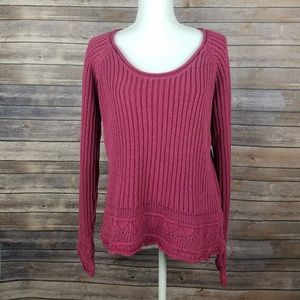 THE TERRITORY AHEAD Elegant Cable Knit Sweater
